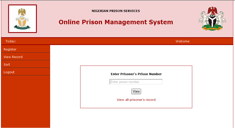ONLINE PRISON MANAGEMENT SYSTEM PHP SOURCE CODE - Academic Project