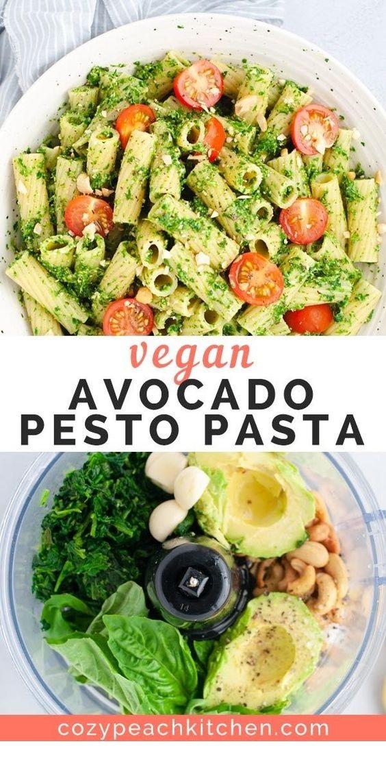 Vegan Avocado Pesto Pasta