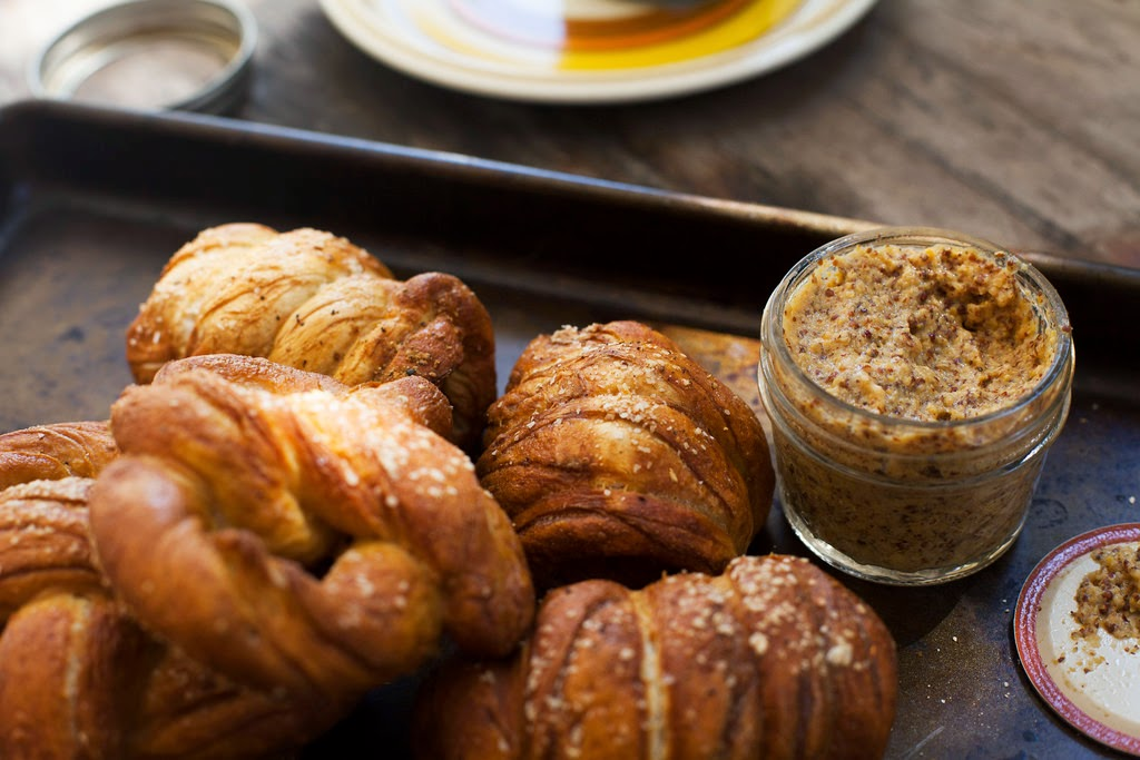 Homemade Pretzels & Pretzel-Wrapped Sausages with Whole-Grain Beer Mustard