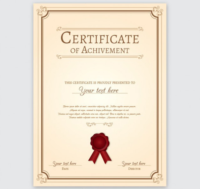 Certificados psd y vector para editar gratis | La Web del Diseñador