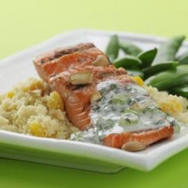 Poached Salmon with Vegetable Couscous
