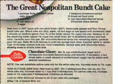 Dying For Chocolate The Great Neapolitan Bundt Cake