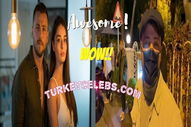 Tolga Sarıtaş had dinner with his lover Zeynep Mayruk at a place in Etiler.
