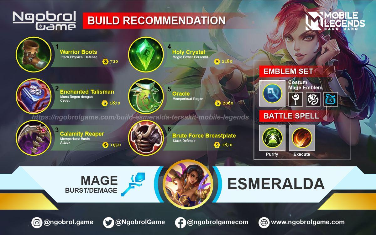 Build Esmeralda Savage Mobile Legends
