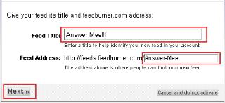 How to add your website to Google FeedBurner?