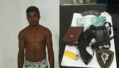 Na cadeia: Dupla é presa com simulacro de arma de fogo após tentativa de assalto em Santa Quitéria