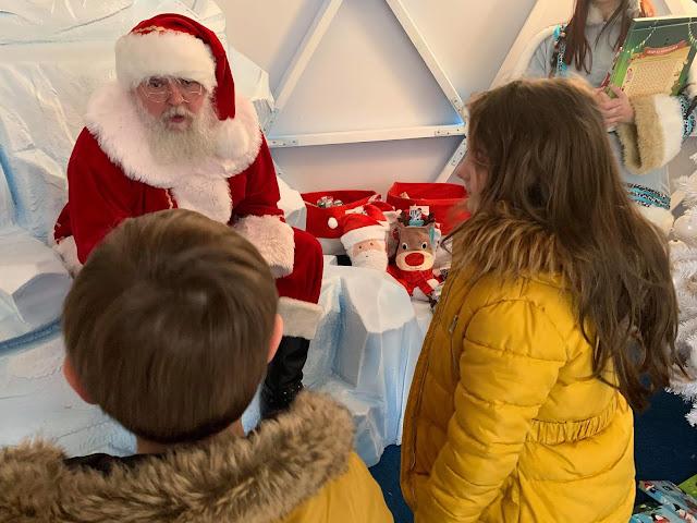 Santa at the metrocenter artic experience