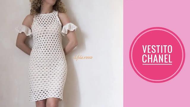 "Vestido ""Chanel"" a Crochet"