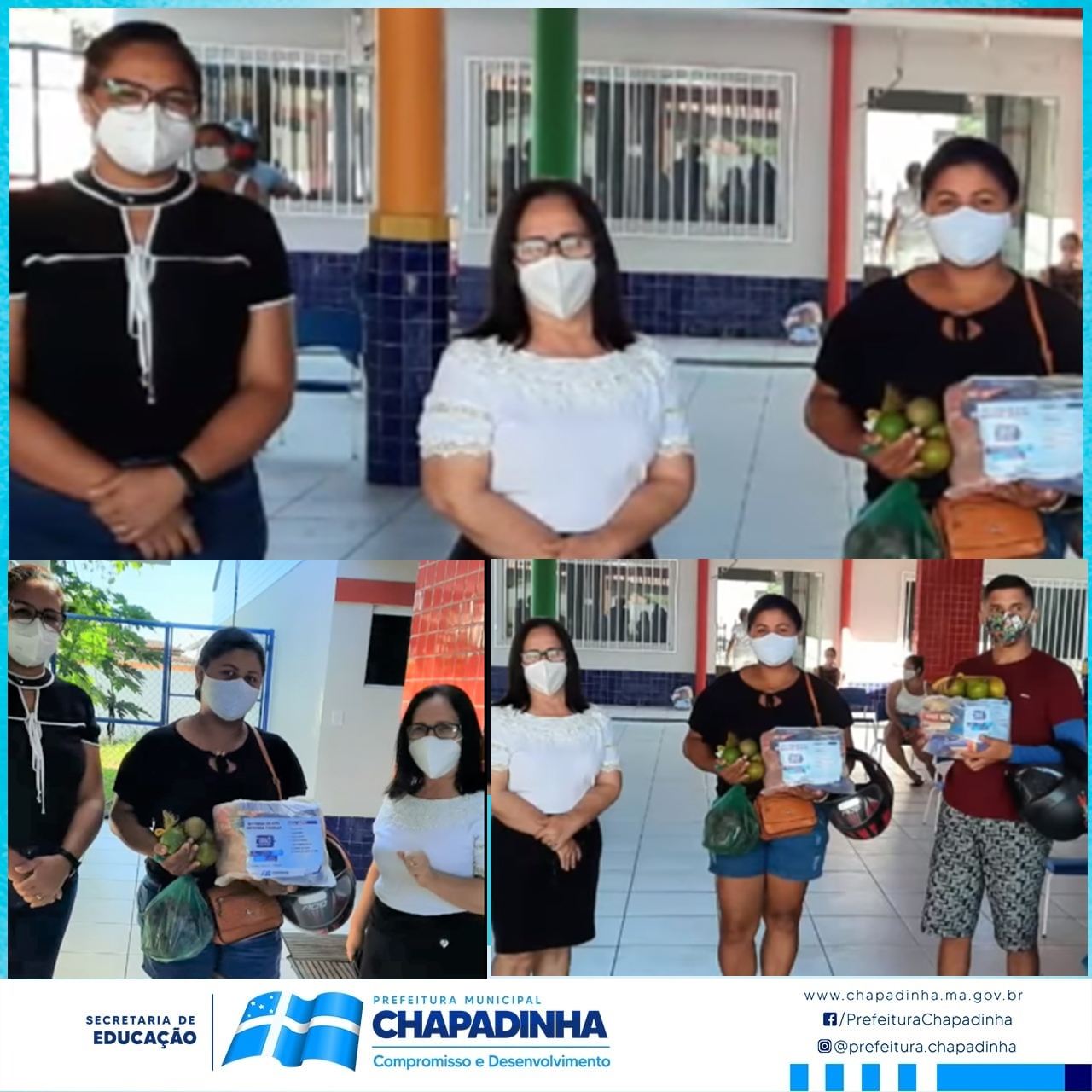 "CHAPADINHA | Prefeitura, Através da SEMED, Realiza Entrega de ""Kits de Merenda Escolar"""