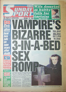 Old British Sunday Sport newspaper from 16 October 1988