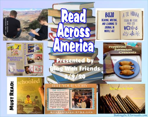 Blog With Friends, a multi-blogger project based post incorporating a theme, Read Across America | Collage made by and property of Baking In A Tornado | Featured on www.BakingInATornado.com