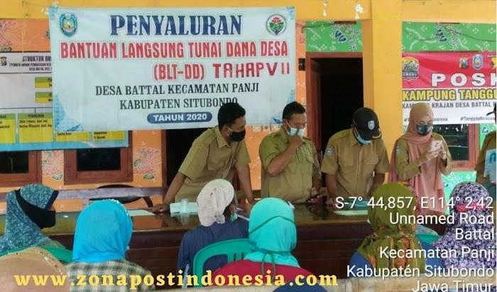 Pemerintah Desa Battal Kecamatan Panji Situbondo, Salurkan BLT-DD Tahap 6 dan 7 Kepada Masing-masing KPM