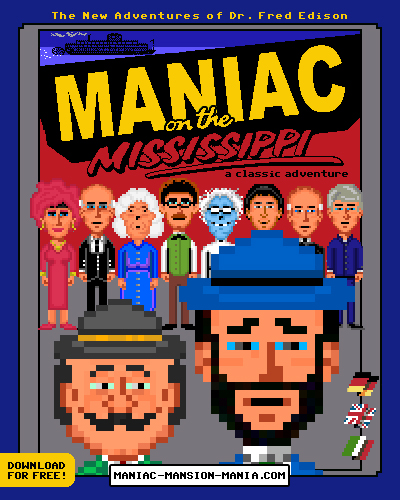 Portada videojuego Maniac on the Mississippi