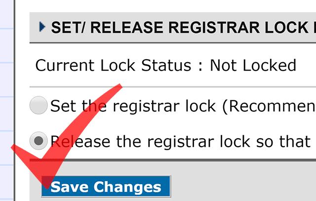 Releasing Registrar Lock