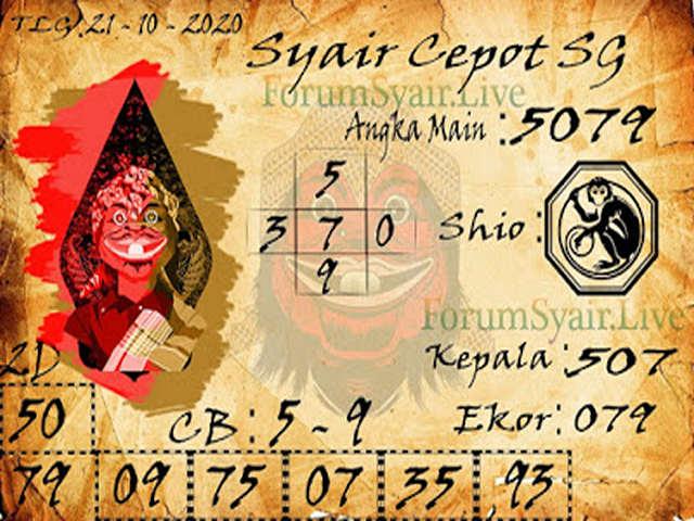 Kode syair Singapore Rabu 21 Oktober 2020 159