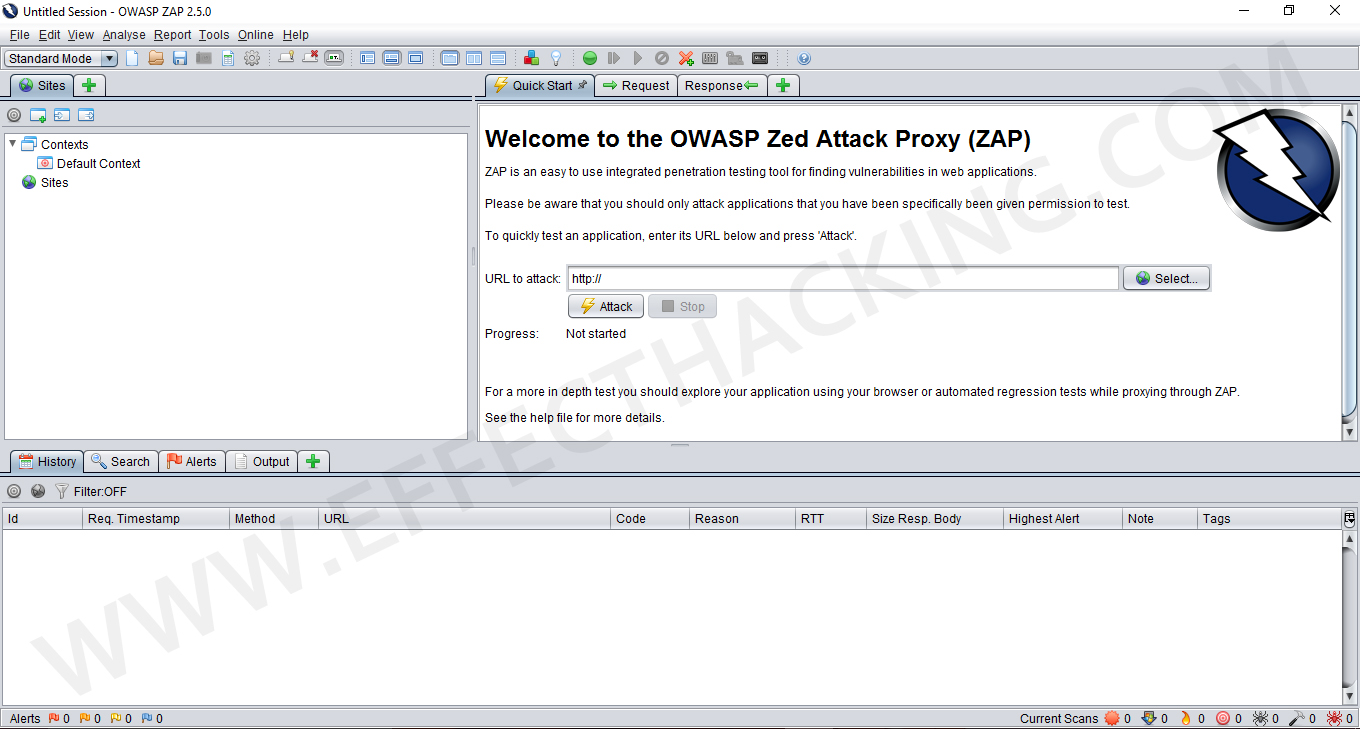 Zed Attack Proxy Screenshot