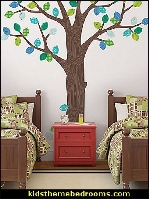tree leaves wall decals outdoorsy bedroom wall decorations tree decals tree murals outdoors