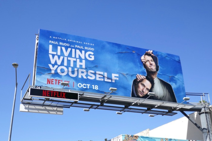 Living With Yourself series premiere billboard