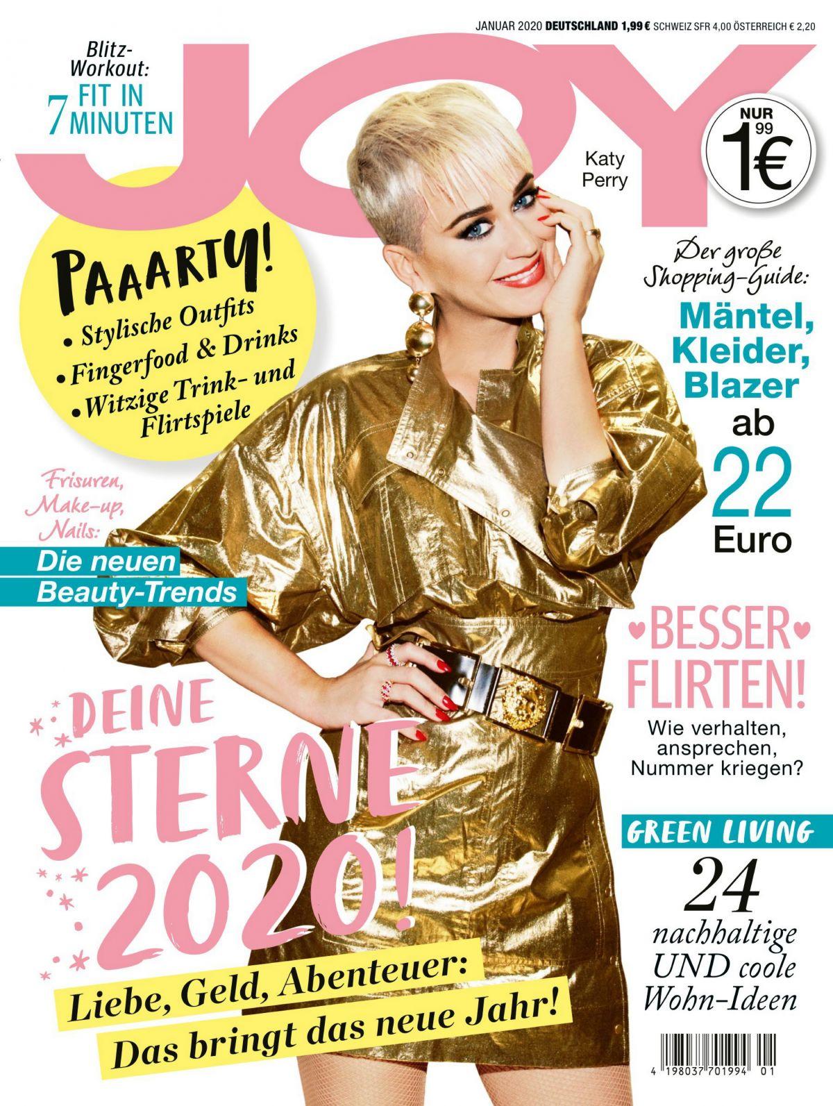 Vanity Fair Cover January 2020.Katy Perry On Joy Magazine Germany Cover January 2020