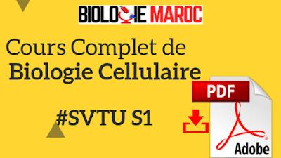 Cours de Biologie Cellulaire SVT S1 PDF