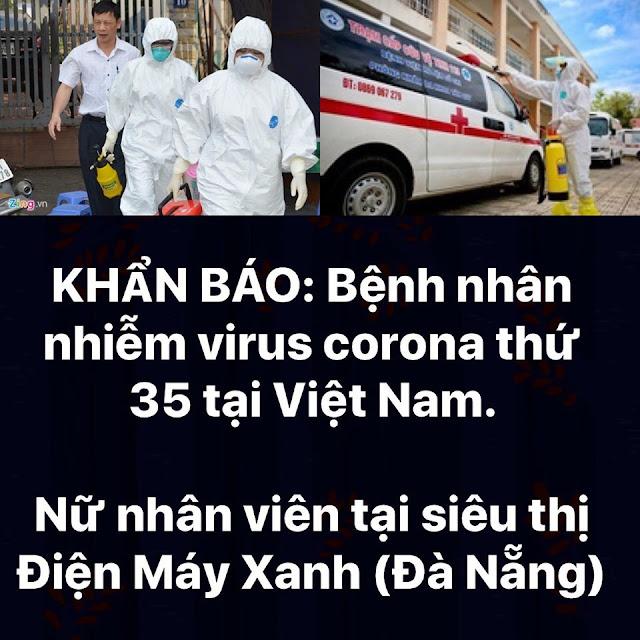 Nữ nhân viên tại siêu thị điện máy xanh Đà Nẵng nhiễm Covid-19 ca thứ 35