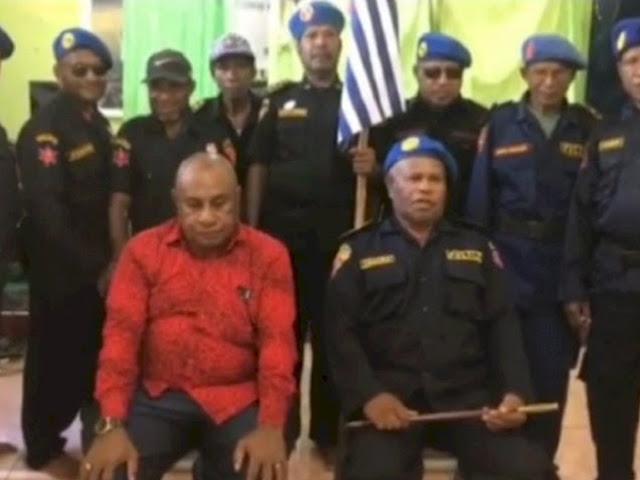 Viral, Sekelompok Orang Ngaku Polisi Republik Papua Barat, Dukung Benny Wenda sebagai Presiden