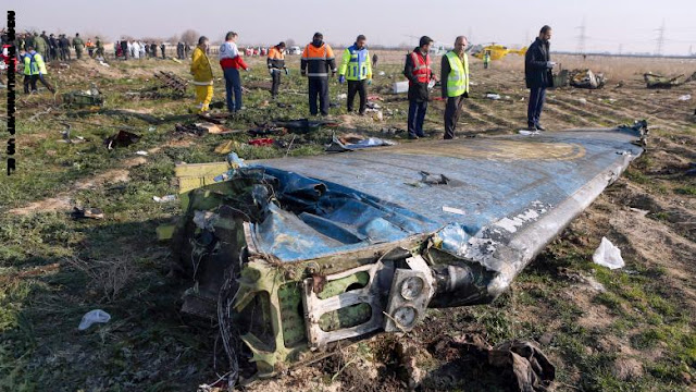 إيران: طائرة الركاب الأوكرانية أسقطت بصاروخين.. والتحقيقات مستمرة