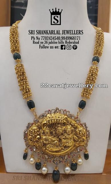 Lord Vishnu Pendant with Gold Balls Chain