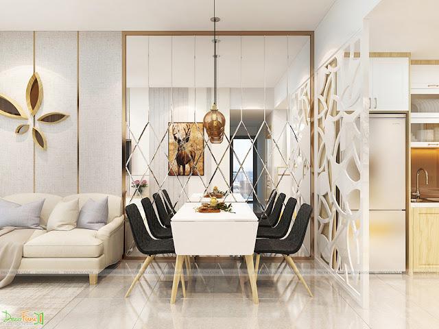Nội thất phòng bếp chung cư 65m2 - 2 phòng ngủ