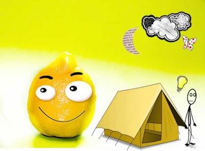 Hacer fuego con limones por si te vas de camping