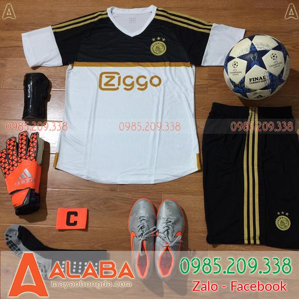 Áo CLB Ajax 2019 màu đen trắng