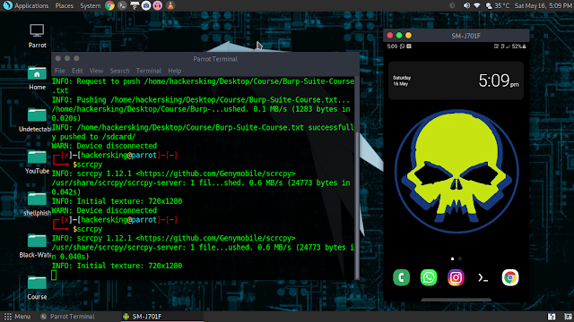 How To Mirror Android Screen On Kali Linux
