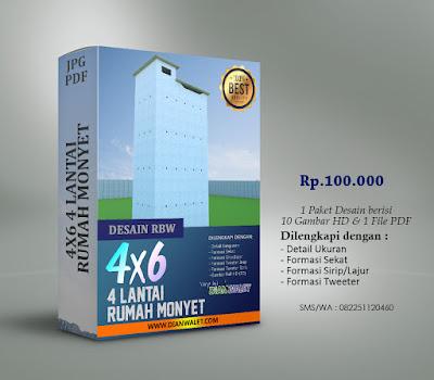 Desain Bangunan Walet 4x6 4 Lantai Premium