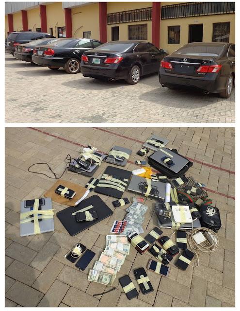 Cybercrime: EFCC Arrest 30 Suspected Internet Fraudsters In Enugu, Recover Laptops, Cars