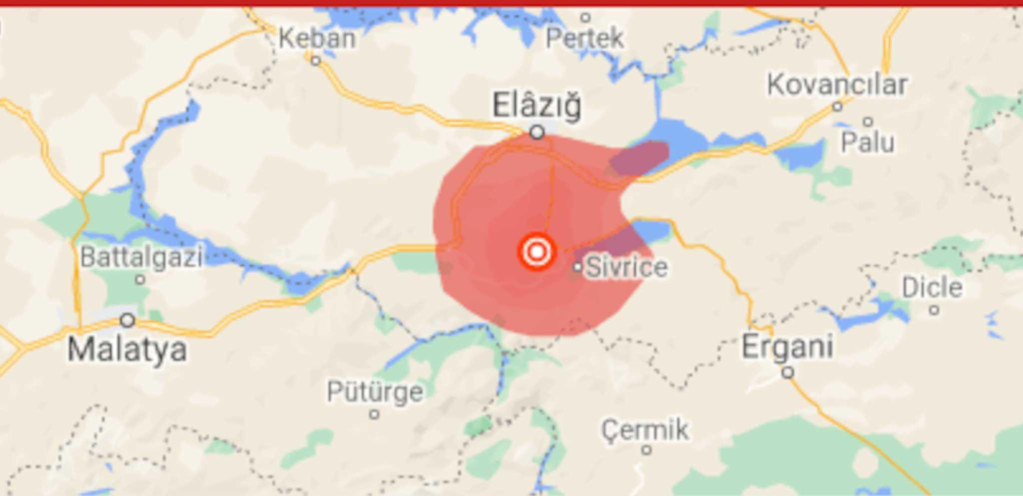 Σεισμός 5,4 Ρίχτερ στην Τουρκία