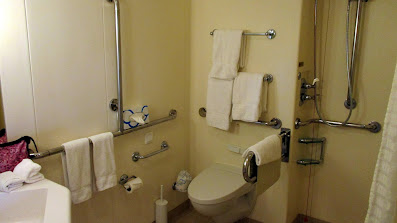 Handicapped accessible balcony cabin toilet on Princess Cruises Royal Princess cruise ship
