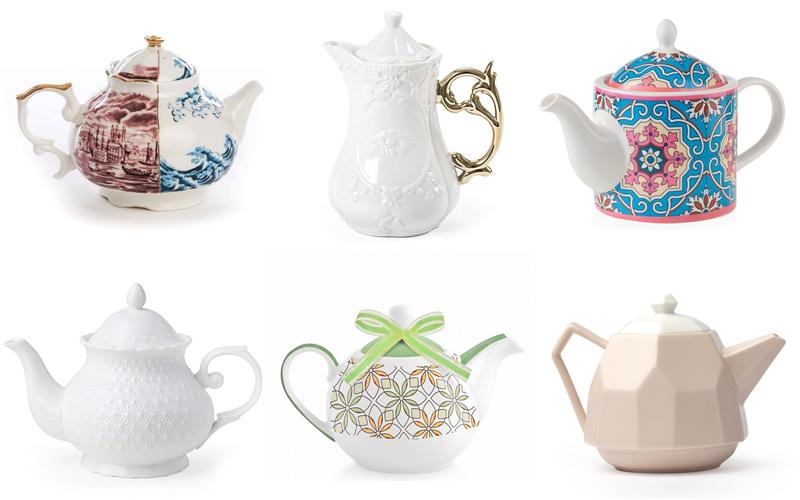 teiere per servire il tè