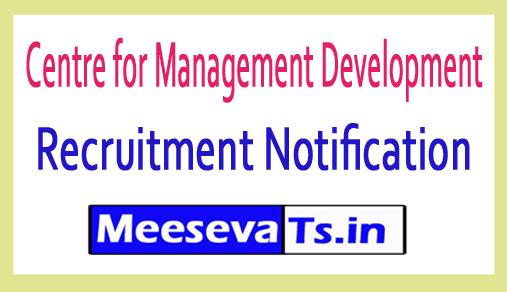 Centre for Management Development CMD Recruitment