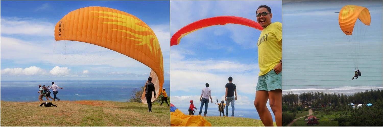 Paralayang Dari Pantai Air Manis Padang