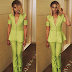 Seyi Shay stuns in green pant suit