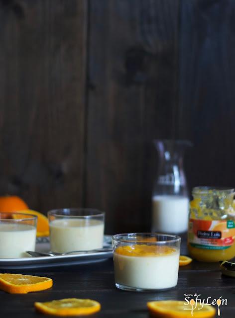 Receta de panacotta de naranja con mermelada de Pedro Luis.