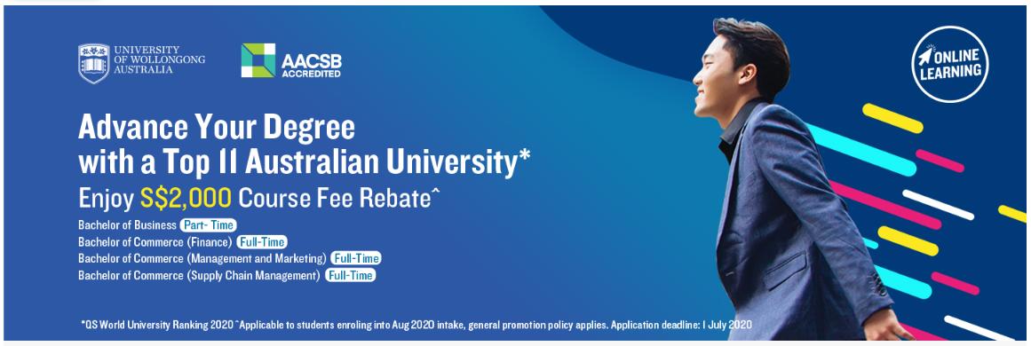 Bachelor Business | University of Wollongong | PSB Academy Singapura