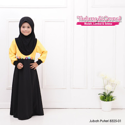 Jubah Budak Dari Material Como Crepe (Princess Cut) - SOLD OUT