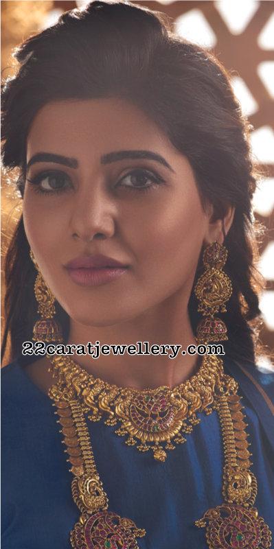 Samantha Heavy Nakshi Jhumkas