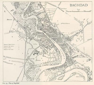 Map Baghdad 1944