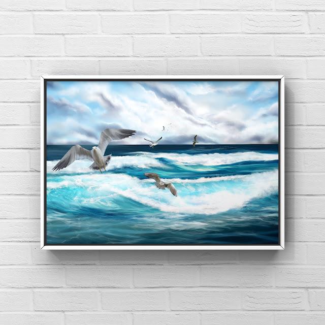 Coastal Flight art by Mark Taylor