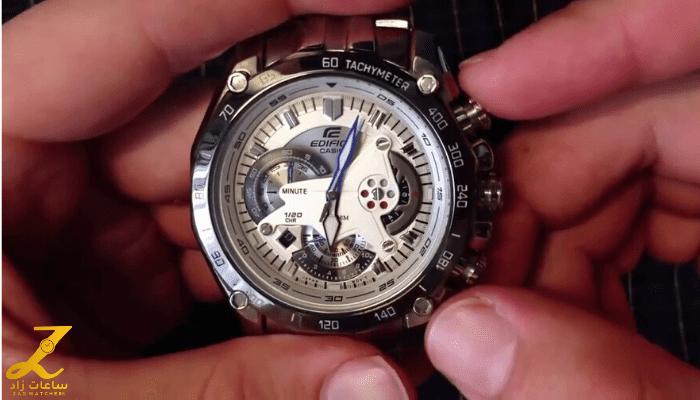 واحدة من افضل واجمل ساعات كاسيو ادفايس الرجالية كرونوغراف EF-550D-7AV