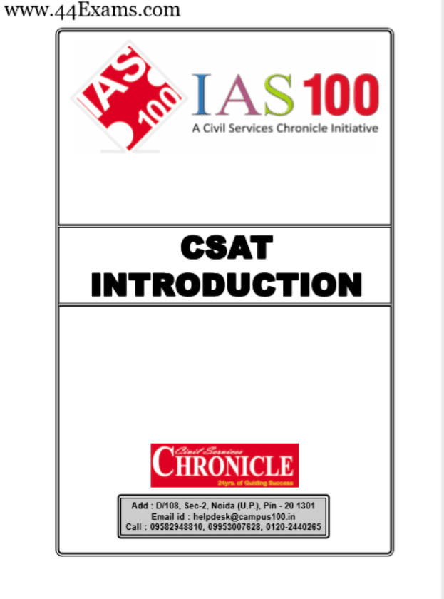 CSAT-Introduction-by-Chronicle-IAS-Academy-PDF-Book