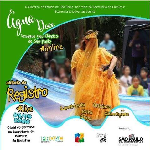 Espetáculo online Água Doce deságua em Registro-SP
