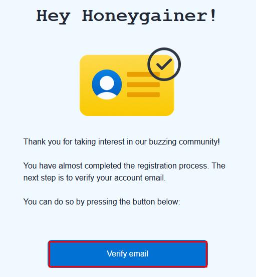 Honeygain Verify Mail